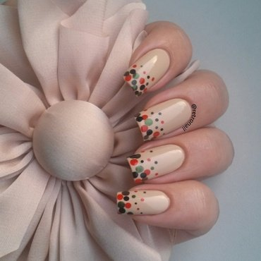 Autumn Dotticure nail art by retronail