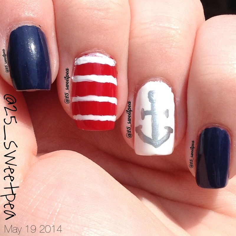 Naitical Art in May nail art by 25_sweetpea