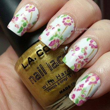 The Digit-al Dozen does the Terrific Twos - China Pattern nail art by Sam