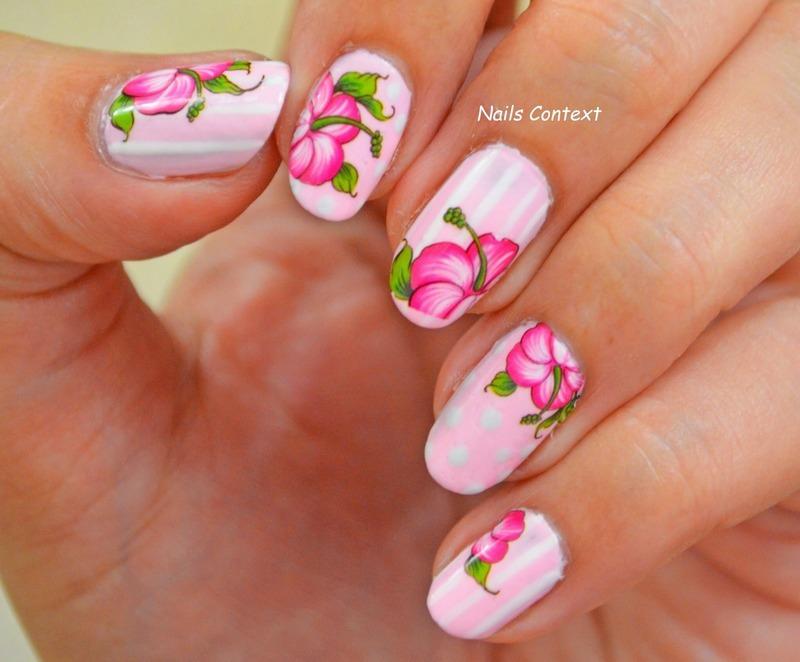 Hibiscus nail art decals nail art by NailsContext