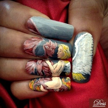 Complicated love affair nail art by Dess_sure