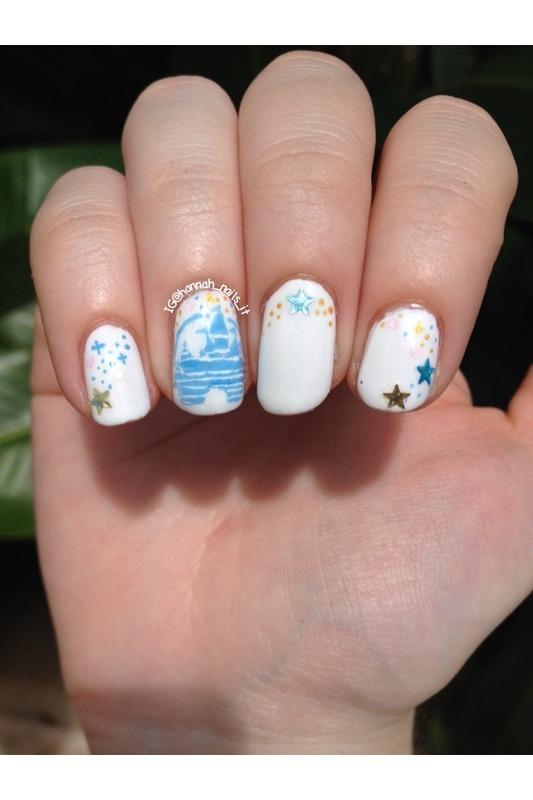 Magic Kingdom Mani nail art by Hannah