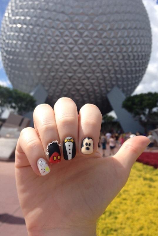 Epcot ready! nail art by Hannah