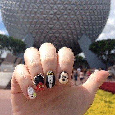 Epcot ready! nail art by Hannah