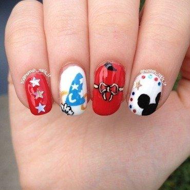 Sorcerer Mickey nail art by Hannah