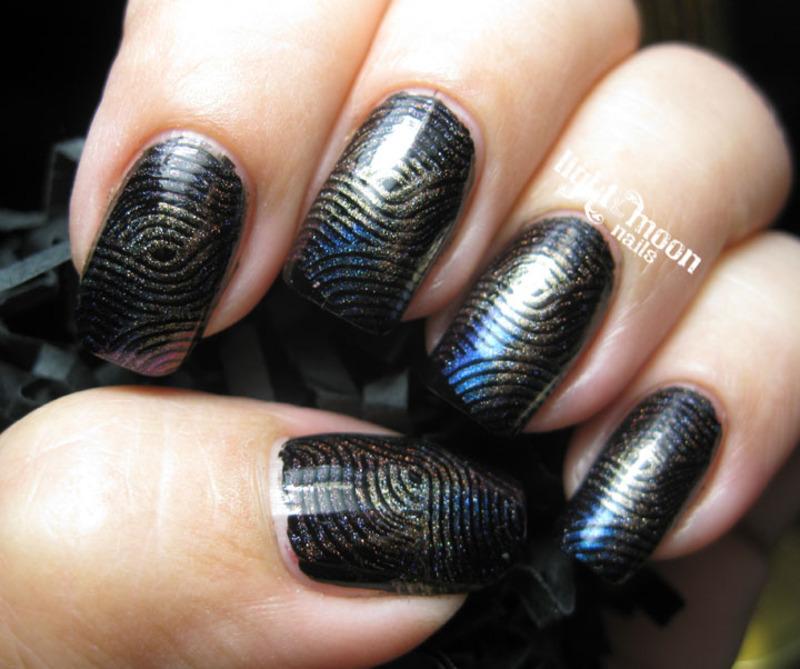 A Rainbow of Holos nail art by Tina Shirbroun