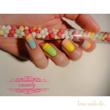 French chevron nail art by Love Nails Etc