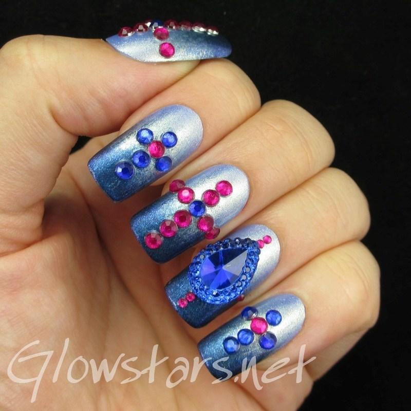 The Digit-al Dozen does the terrific twos: sapphires nail art by Vic 'Glowstars' Pires