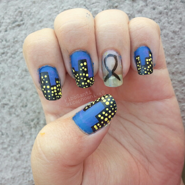 September challenge day 11 Memorial  nail art by KiboSanti