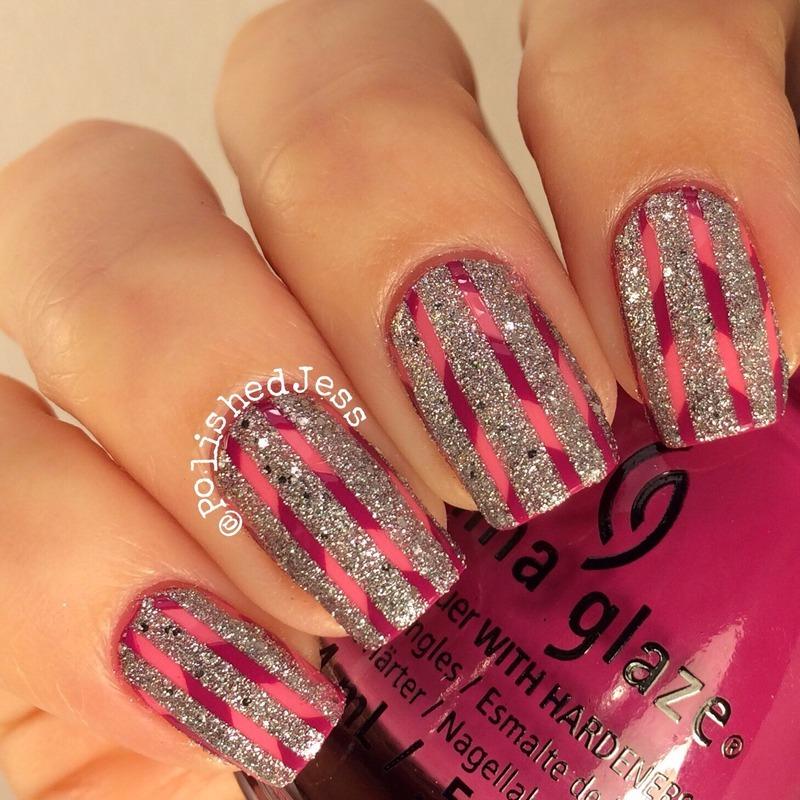 31dc2014 - Day Twelve - Stripes nail art by PolishedJess