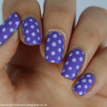 Matte Purple Dotticure nail art by Vicky Standage