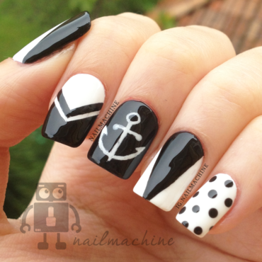 Black & White nail art by Kimberlyn