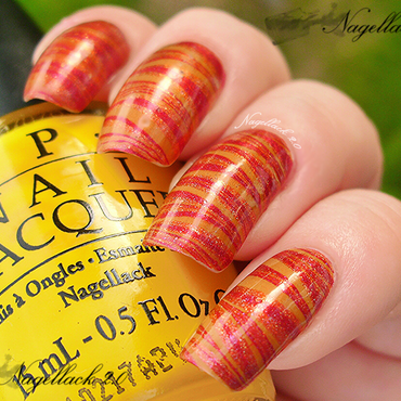 Fall Marbling nail art by Arlett