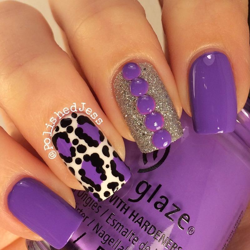 31dc2014 - Day 13 - Animal Print  nail art by PolishedJess