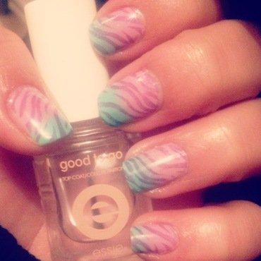 Funky Zebra nail art by Valeska Escobar