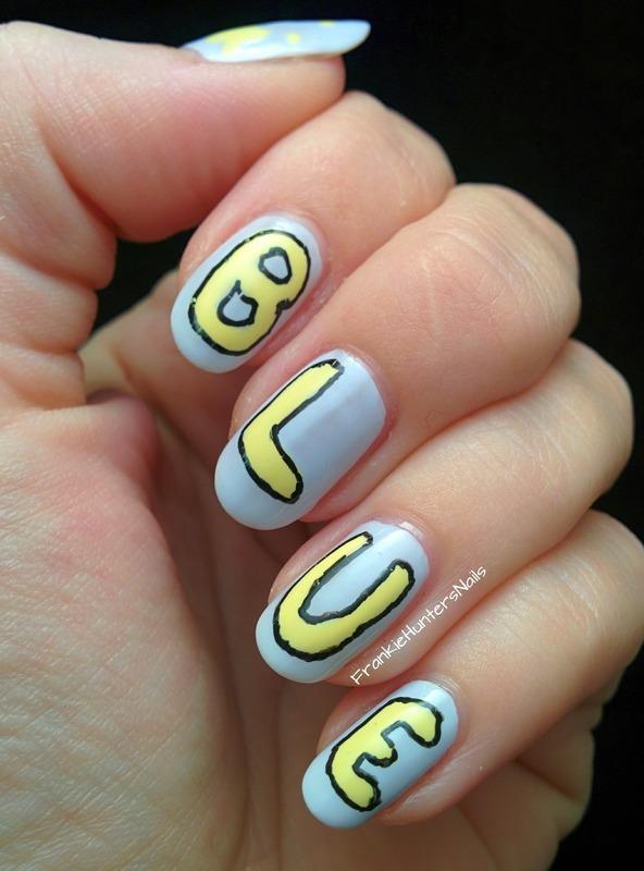31DC2014 - Day 3 Yellow nail art by Franziska FrankieHuntersNails