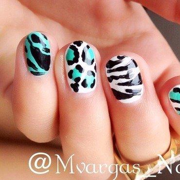Animal print  nail art by Massiel Pena