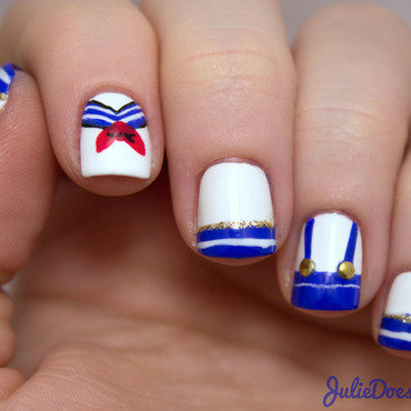 #31DC2014 Day Twelve Striped Nails nail art by Julie