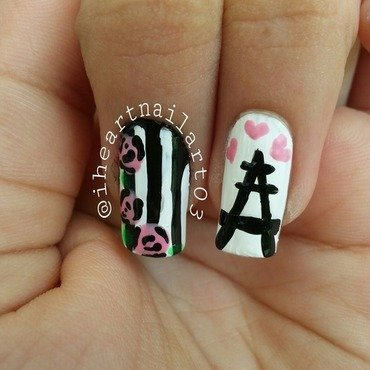 Paris- City of love (zoomed in version) nail art by iheartnailart03