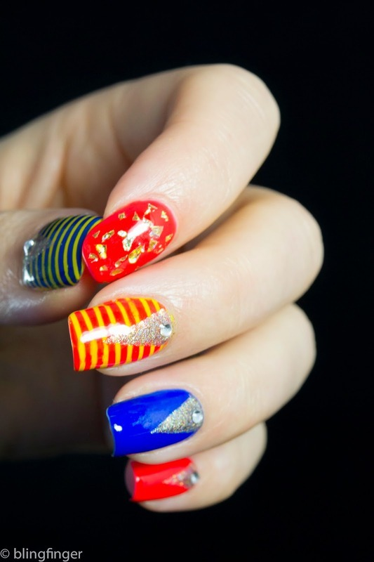 Turkish Holiday nail art by  Petra  - Blingfinger