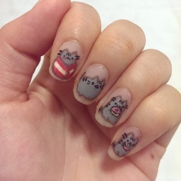Pusheen Crazy ! nail art by JingTing Jaslynn