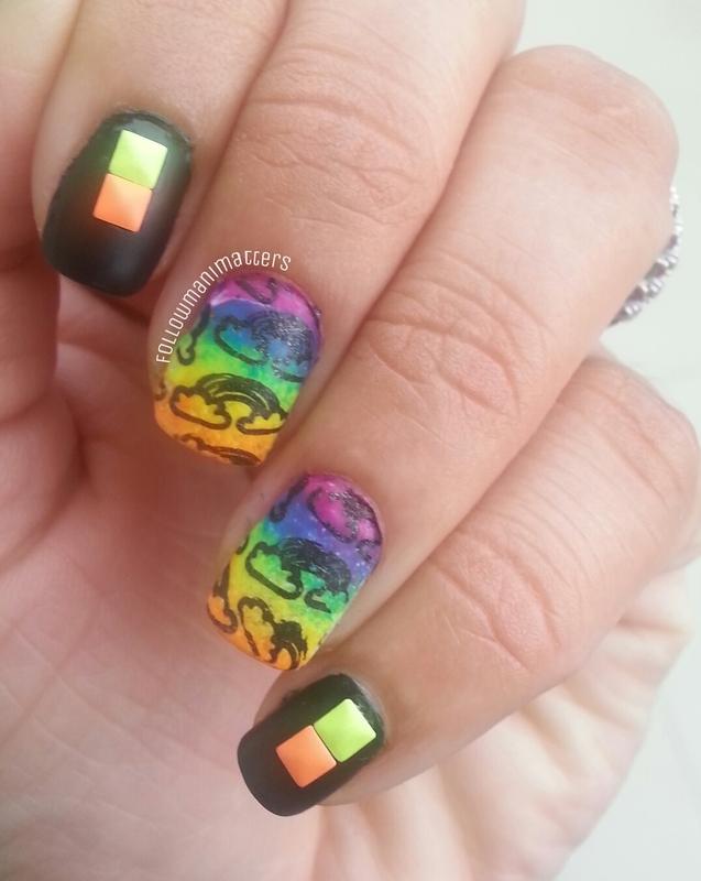 Neon Rainbow nails nail art by Manisha Manimatters - Nailpolis ...