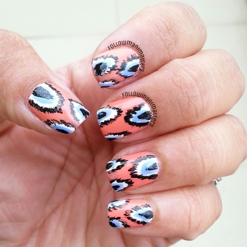 Ikat Nail Design nail art by Manisha Manimatters