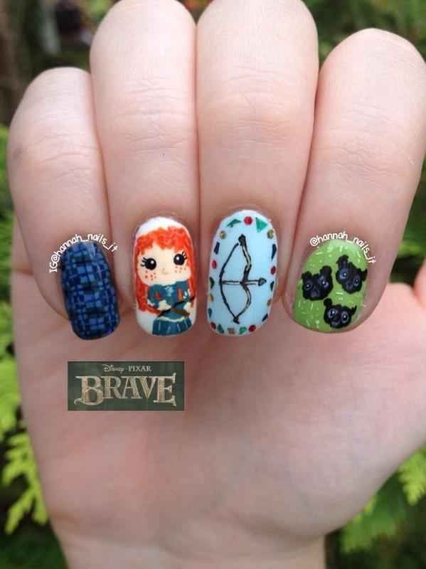 Brave  nail art by Hannah