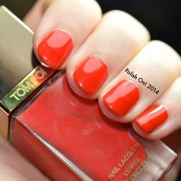 Tom Ford Scarlet Chinois Swatch by Polish On!