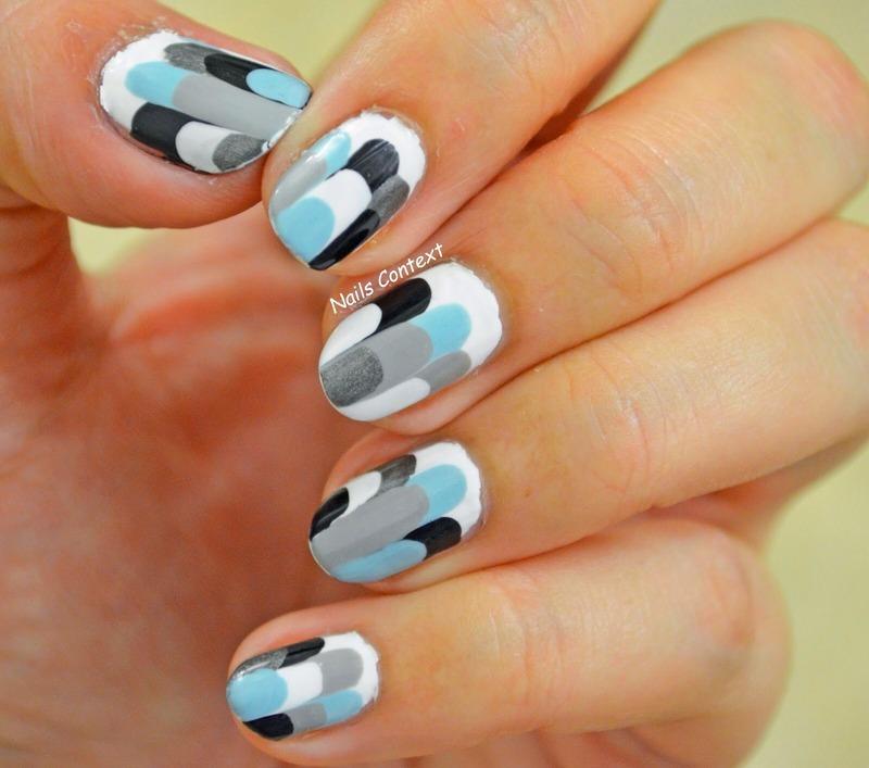 Modern Ruffles nail art by NailsContext