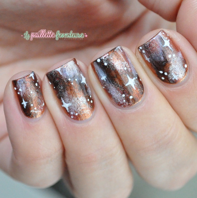 Autumn galaxy nails nail art by nathalie lapaillettefrondeuse
