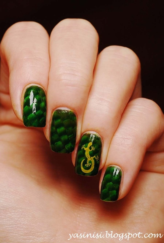Inspored vt Piggie Luv nail art by Yasinisi