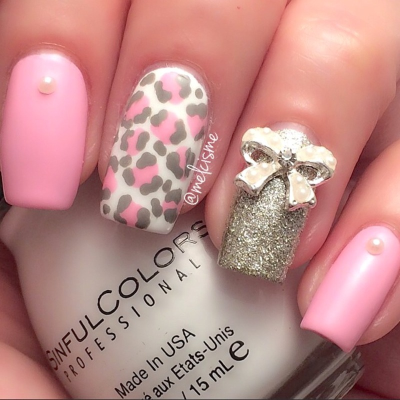 Girly Nail Art: Girly Girl Nails Nail Art By Melissa