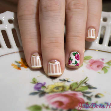 #31DC2014 Day Fifteen: Delicate Print nail art by Julie