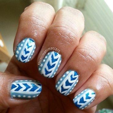 Mint blue pattern nails nail art by Manisha Manimatters