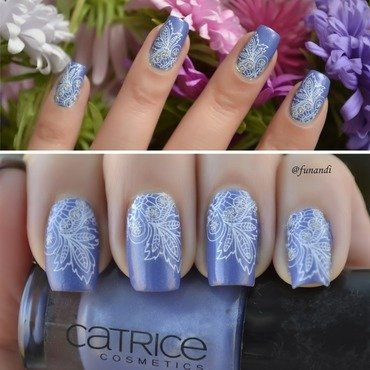 Quick mani with decals nail art by Andrea  Manases