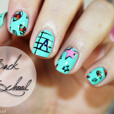 Back to School nail art by Amethyst