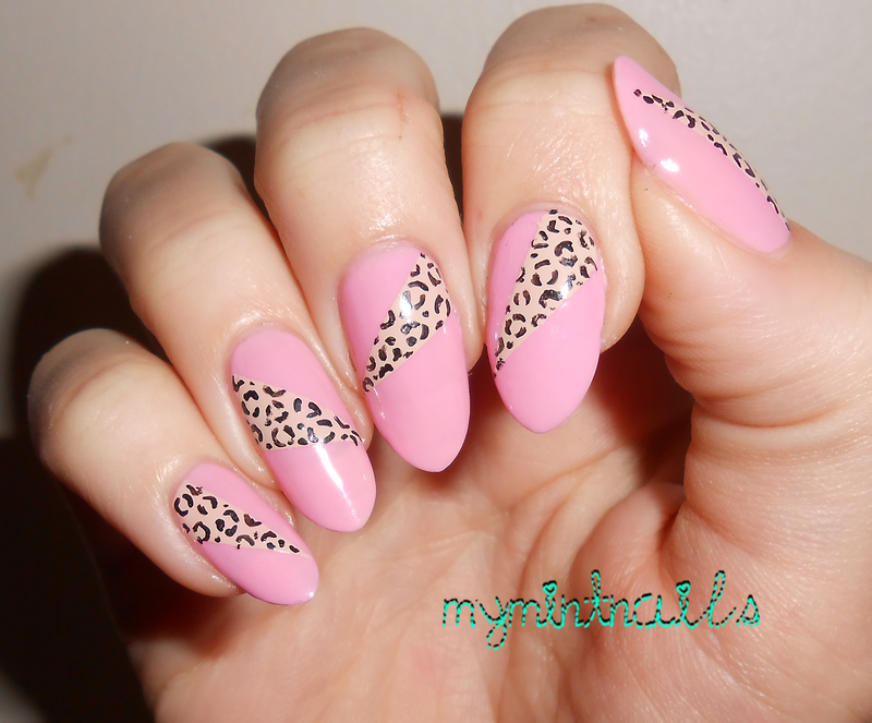 Leopard Print Triangles nail art by MyMintNails