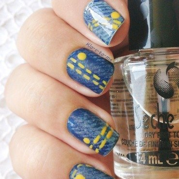 Blue Jeans Nails nail art by klo-s-to-me