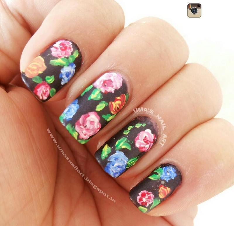 WALL PAPER nail art by Uma mathur