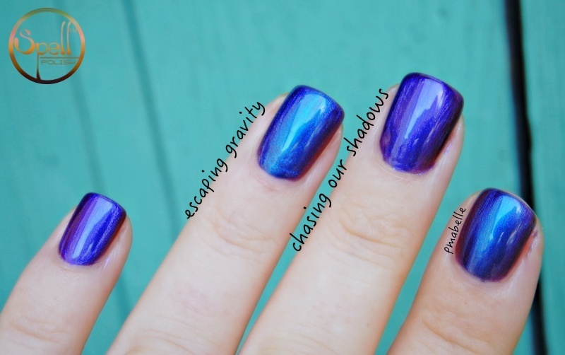 spell polish Escaping Gravity and spell polish chasing our shadows Swatch by Pmabelle