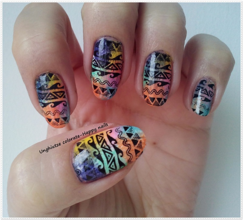 Tribal nail art nail art by Oana  Alexandru