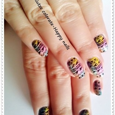 Tribal nail art by Oana  Alexandru