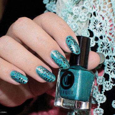 Premier Stamping nail art by Lizana Nails