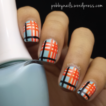 Burberry Nails with a Colour Twist! nail art by Priscilla  Lim