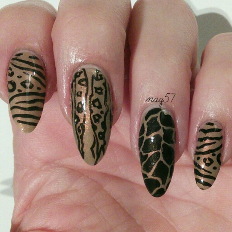 Stampin' Gone Wild nail art by Nora (naq57)