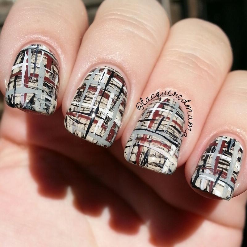 Tweed nail art by Jennifer Collins