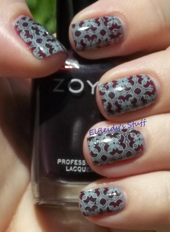 Stamping Sunday 9-14-2014 nail art by Jenette Maitland-Tomblin