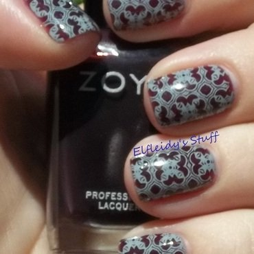 Stamping Sunday 9-14-2014 nail art by Jenette Maitland-Tomblin