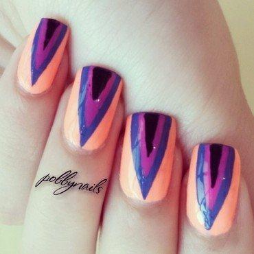 Inceptriangles nail art by Priscilla  Lim